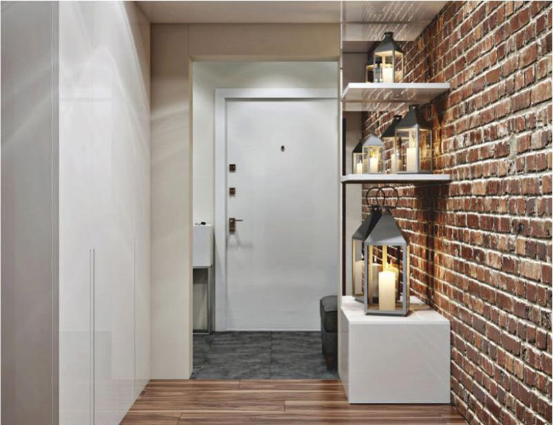 декоративна цегла в коридорі