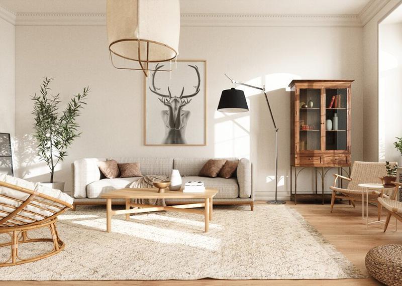 Скандинавський стиль в ремонті вітальні