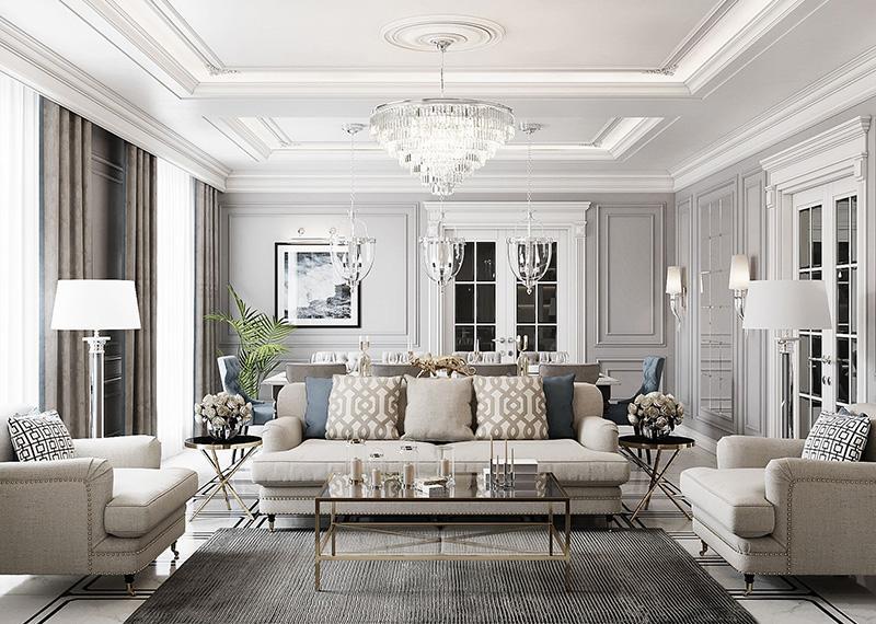 ремонт вітальні у класичному стилі