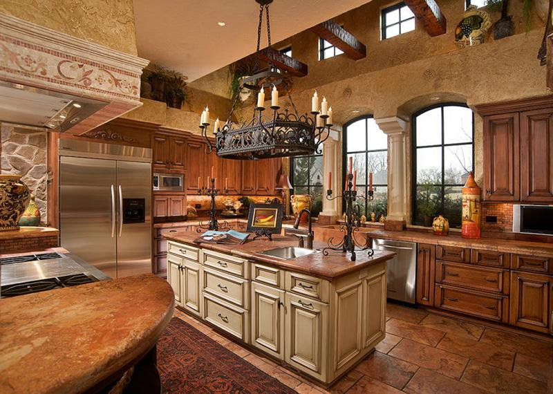 класична дерев'яна кухня