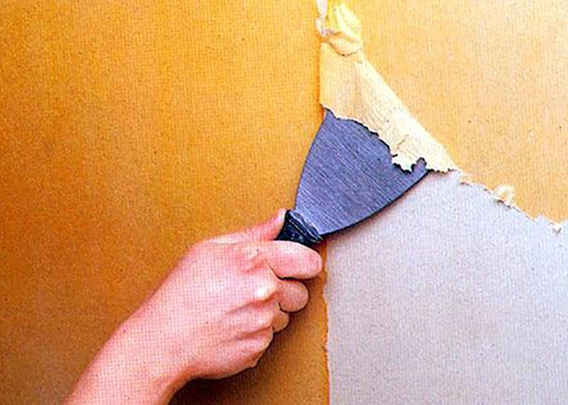 очистка стіни від фарби