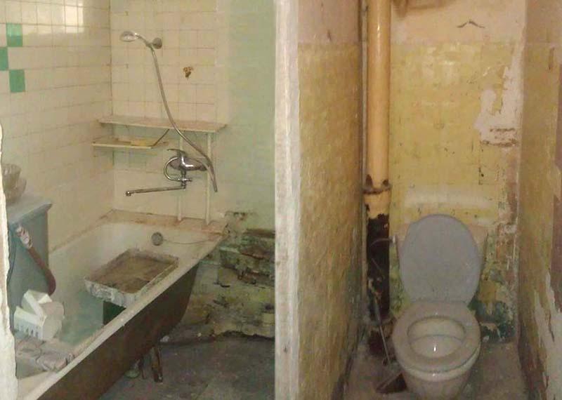 демонтаж перегородки між ванною та туалетом