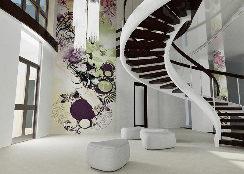 дизайн-інтер'єру-з-розписом-стіни
