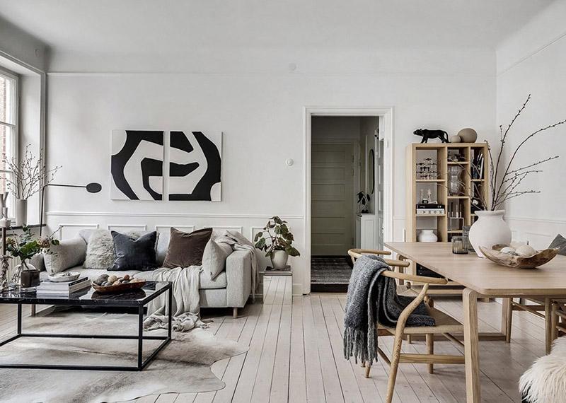 Скандинавський-стиль-дизайну-квартири